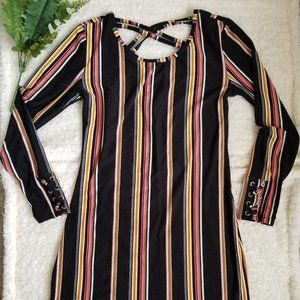 Casual Striped polyester dress